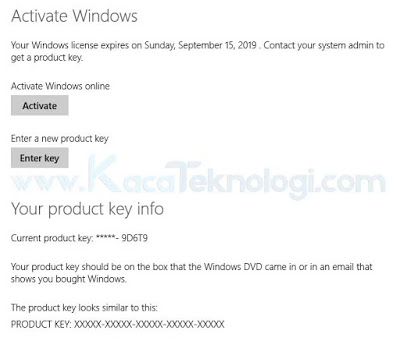 "Bagaimana cara mengatasi pesan ""Your Windows license will expire soon - You need to activate Windows in Settings"" pada Windows 8, 8.1 dan 10. - Pesan Windows expired ini benar-benar mengganggu karena seringkali muncul dengan sendirinya secara tidak beraturan. Pesan ini menandakan bahwa lisensi Windows Anda akan kadaluarsa dalam waktu yang singkat."